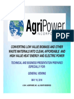Agripower - General Presentation- May 16, 2016