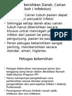 Cara Membersihkan Darah, Cairan Tubuh ( Infeksius.pptx