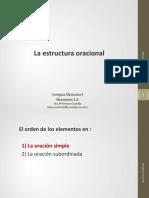 1.6 La Estructura Oracional