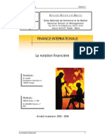 Notation Financiere