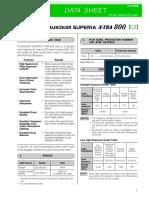 Fuicolour Superia 800 Data Sheet