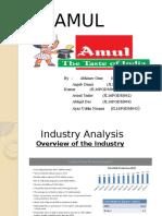 Presentation on Dairy Industry (AMUL)