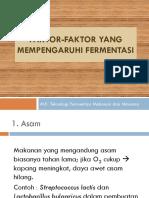 2 Faktor-Faktor Fermentasi