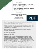 18 soc.sec.rep.ser. 147, unempl.ins.rep. Cch 17,529 Charles G. Allen v. Otis R. Bowen, M.D., Secretary of Health and Human Services, 821 F.2d 963, 3rd Cir. (1987)