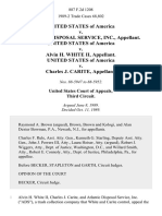 United States v. Atlantic Disposal Service, Inc., United States of America v. Alvin H. White Ii, United States of America v. Charles J. Carite, 887 F.2d 1208, 3rd Cir. (1989)