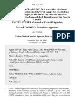 United States v. Mario Londono, 946 F.2d 887, 4th Cir. (1991)