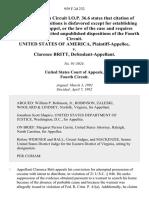 United States v. Clarence Britt, 959 F.2d 232, 4th Cir. (1992)