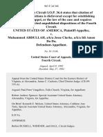 United States v. Muhammed Abdullah, A/K/A Jesse Clarke, A/K/A Idi Amen Da Da, 963 F.2d 368, 4th Cir. (1992)