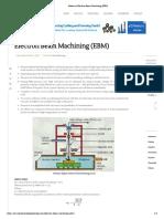 Notes on Electron Beam Machining (EBM)