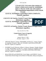 Gust K. Newberg Construction Company v. County of Fairfax Fairfax County Board of Supervisors, Gust K. Newberg Construction Company v. County of Fairfax Fairfax County Board of Supervisors, 972 F.2d 339, 4th Cir. (1992)