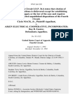 Clyde MacK Jr. v. Aiken Electrical Cooperative, Incorporated Ray B. Gunter, 978 F.2d 1255, 4th Cir. (1992)