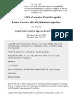 United States v. Lonnie Alvertice Adams, 25 F.3d 1041, 4th Cir. (1994)