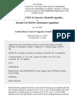 United States v. Donald Jackson, 23 F.3d 404, 4th Cir. (1994)