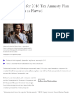 Jokowi's Push for 2016 Tax Amnesty Plan Kick-Off Seen as Flawed - Bloomberg.pdf