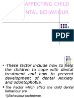 Factor Affecting Child Dental Behaviour Pedo