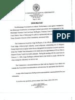 Judicial Performance Commission Recommendation to Sanction J. Larry Buffington