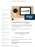 5 LinkedIn Marketing Hacks for B2B Startups _ Shivankit Arora _ LinkedIn