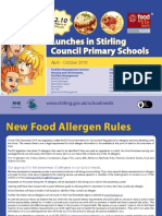 Primary School Menu April - October 2016