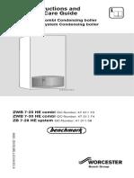 Greenstar HE Combi Operating Instructions (1)