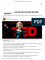 Inc - 11 Public Speaking Tips From the Best TED Talks Speakers