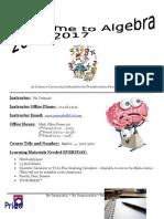 algebra syllabus 2016-2017
