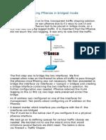 Traffic Shaping Using PfSense in BridgedMode