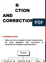 1 Error Detection and Correction