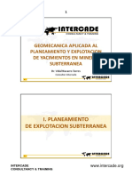 GEOMECANICA APLICADA AL PLANEAMIENTO Y EXPLOTACION DE YACIMIENTO DE MINERIA SUBTERRANEA PARTE 1
