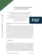 Quasi-classical Descendants of Disordered Vertex Models With Boundaries