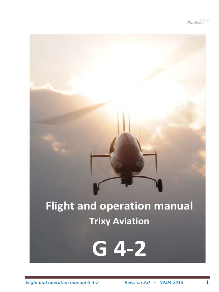 Flight and Operation Manual for Gyrocopter Rev 3.0   Landing Gear   Airspeed