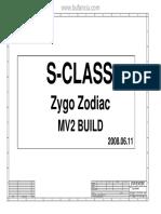 Hp Compaq 6530s 6730s - 6050a2161001-Mb-A04 - Inventec Zygo Zodiac Mv2 Build Rev a01