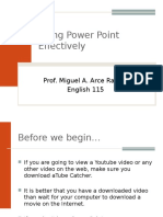 Using Power Point Effectively