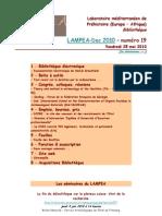 LAMPEA-Doc 2010 – numéro 19 / Vendredi 28 mai 2010