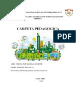 Carpeta Pedagogica 2016- 1°