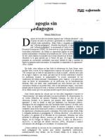 La Jornada_ Pedagogía Sin Pedagogos