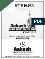 Aakash Sample Paper