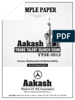 Aakash Sample Paper