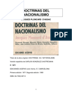 Jacques Ploncard d'Assac - Doctrinas Del Nacionalismo