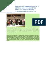 Pozuzo Alemanes en El Peru