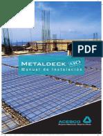 ManuaI instaLacion Metal Deck