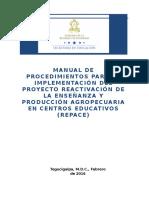 2016.02.22 Manual de Procedimientos Del Proyecto REPACE (1)