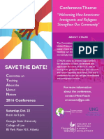 ctaun conference 2016 save the date flyer