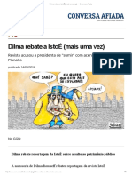 Dilma Rebate a IstoÉ (Mais Uma Vez) — Conversa Afiada