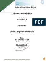 Unidad 2. Regresión Lineal Simple
