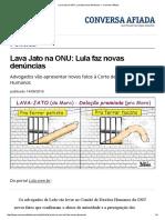 Lava Jato Na ONU_ Lula Faz Novas Denúncias — Conversa Afiada