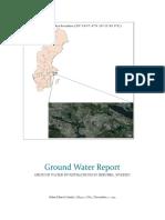 GROUND WATER INVESTIGATIONS IN SKRUBBA, SWEDEN