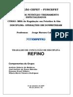 Trabalho_MBA Refino_Operaes em Downstream_Rev01