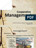 Management of a Cooperative