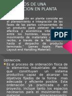 Conceptos de Una Distribucion en Planta