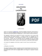 Unlocking the Lagrangian